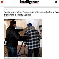 Poor People Often Don't Survive To Become Seniors Who Vote
