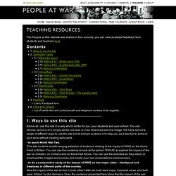 People At War - Teaching Resources