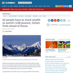 'World's richest 1% own as much as other 99% combined'