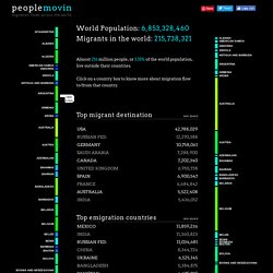 peoplemovin - A visualization of migration flows
