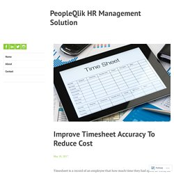 Outstanding Timesheet Management Software