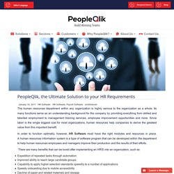 Perfect software for HR and Payroll - PeopleQlik