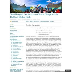World People's Conference on Climate Change and the Rights of Mother Earth