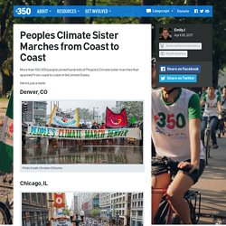 350.org – Peoples Climate Sister Marches from Coast to Coast