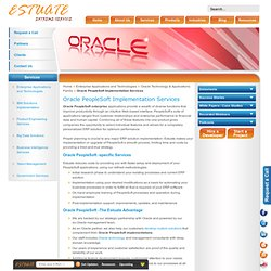 Oracle PeopleSoft Implementation Services