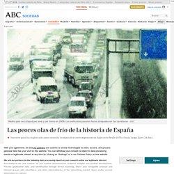 Las peores olas de frío de la historia de España