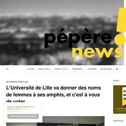 L'Université de Lille va donner des noms de femmes à ses amphis, et c'est à vous de voter