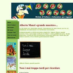 Biografia di Manzi il pepeverde rivista di letture e letterature per ragazzi
