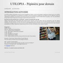 Pépinière pour demain - INTRODUCTION ACTIVISME