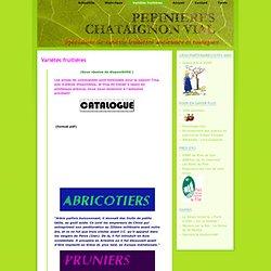 Pépinières Chataignon Vial, variétiés fruitières anciennes et rustiques » Variétés fruitières