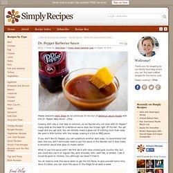 Dr. Pepper Barbecue Sauce Recipe