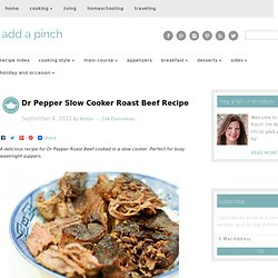 Dr Pepper Slow Cooker Roast Beef Recipe