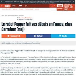 Le robot Pepper fait ses débuts en France, chez Carrefour (maj)