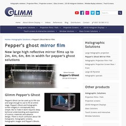 Pepper's Ghost Mirror Film - Glimm Display