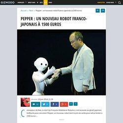 Pepper : un nouveau robot franco-japonais à 1500 euros