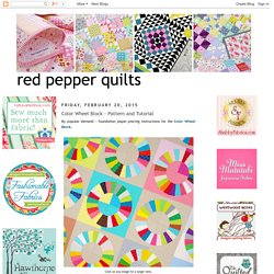 Color Wheel Block - Pattern and Tutorial