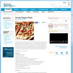Smoky Pepper Pizza Recipe