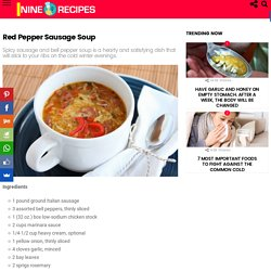 Red Pepper Sausage Soup – NINE Recipes