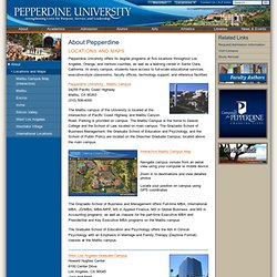 Locations and Maps | Welcome | Pepperdine University