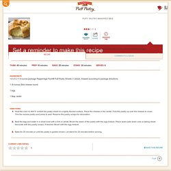 Pepperidge Farm® Puff Pastry - Recipe Detail - Puff Pastry-Wrapped Brie