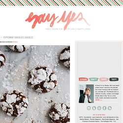 Peppermint Chocolate Crackles