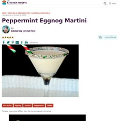 Peppermint Eggnog Martini
