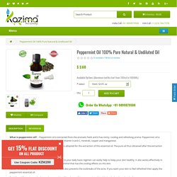 Buy Peppermint Oil online India - cheap Peppermint Oil online India