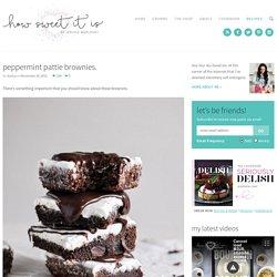Peppermint Pattie Brownies. - How Sweet It Is
