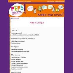PEPS - Aide et Lexique