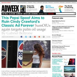 This Pepsi Spoof Aims to Ruin Cindy Crawford's Classic Ad Forever