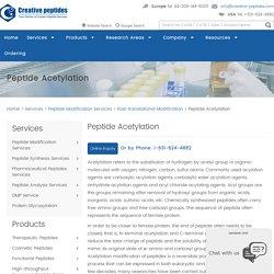 Peptide Acetylation