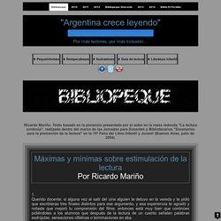 """PEQUEblog1» GUÍA DE LECTURA : Ricardo Mariño. Texto basado en la ponencia presentada por el autor en la mesa redonda """"La lectura continúa"""", realizada dentro del marco de las Jornadas para Docentes y Bibliotecarios """"Escenarios para la promoción de la lectu"""