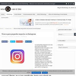 Trucos para pequeños negocios en Instagram