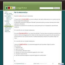 Per la Matematica - LeggiXme