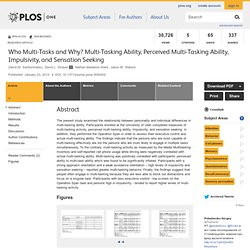 Who Multi-Tasks and Why? Multi-Tasking Ability, Perceived Multi-Tasking Ability, Impulsivity, and Sensation Seeking