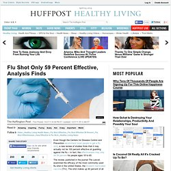Flu Shot Only 59 Percent Effective, Analysis Finds