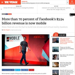 More than 70 percent of Facebook's $3.54 billion revenue is now mobile