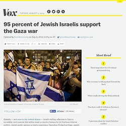 95 percent of Jewish Israelis support the Gaza war