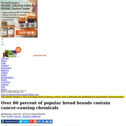 Over 80 percent of popular bread brands contain cancer-causing chemicals