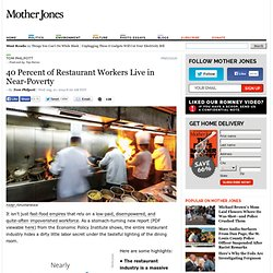 40 Percent of Restaurant Workers Live in Near-Poverty