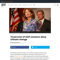 72 percent of GOP senators deny climate change