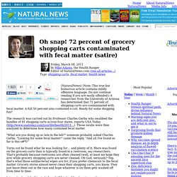 Oh snap! 72 percent of grocery shopping carts contaminated with fecal matter (satire)