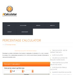 Percentage Calculator - How to Calculate Percent Increase?