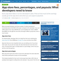 App store fees, percentages, and payouts: What developers need to know