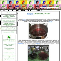 Organic Lotion Secrets' Natural Homemade Lotion Recipes Tips Percentages conversion calculator temperature Non Toxic
