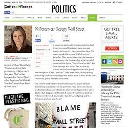 99 Percenters Occupy Wall Street