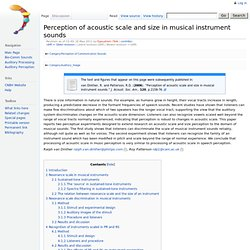 Perception of acoustic scale and size in musical instrument sounds - CNBH Acoustic Scale Wiki