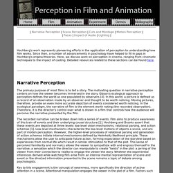 Perception in Film and Animation
