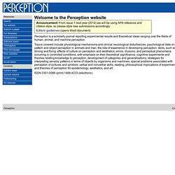 Perception homepage