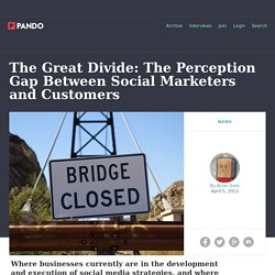 The Great Divide: The Perception Gap Between Social Marketers and Customers